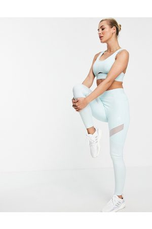 adidas performance Adidas Training leggings with branded waistband in mint-Green