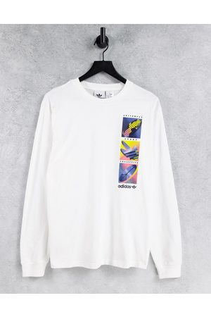 adidas Originals Summer icons long sleeve t-shirt in white