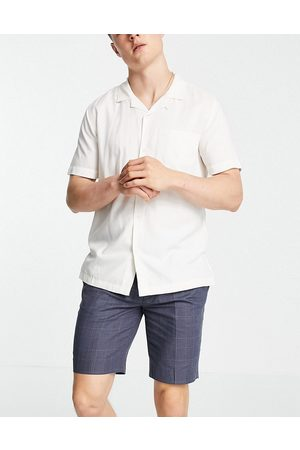 ASOS Tapered smart shorts in navy check