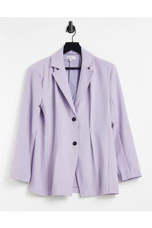 Ghospell Blazer in lilac co-ord-Purple