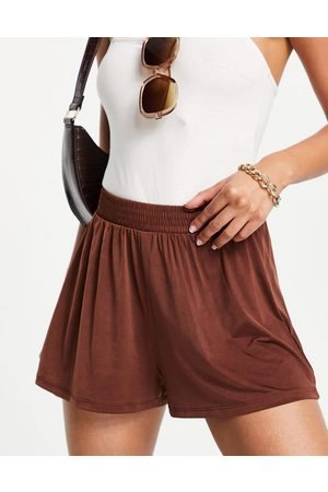 ASOS Mix and match slinky jersey beach short in brown