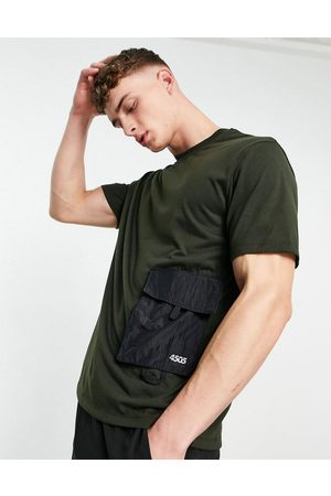 ASOS 4505 Easy fit training t-shirt with utility pocket-Grey