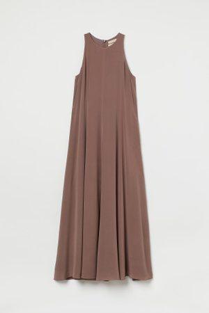 H&M Damen Freizeitkleider - Langes Seidenkleid