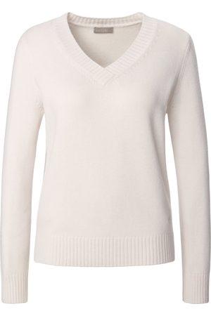 include V-Pullover aus 100% Premium-Kaschmir weiss