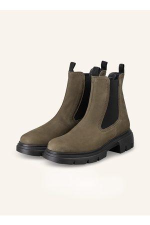 Paul Green Damen Stiefeletten - Chelsea-Boots gruen