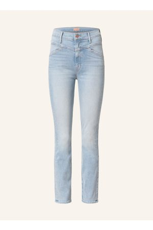 MOTHER Straight Jeans The Dazzler Yoke Front Ankle