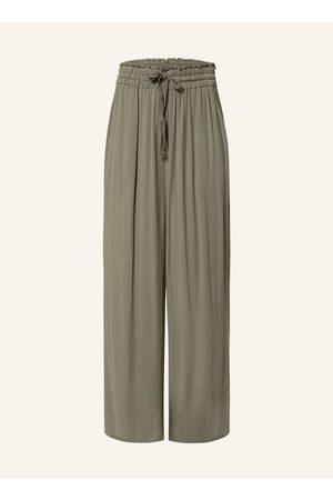WHISTLES Damen Weite Hosen - Culotte gruen