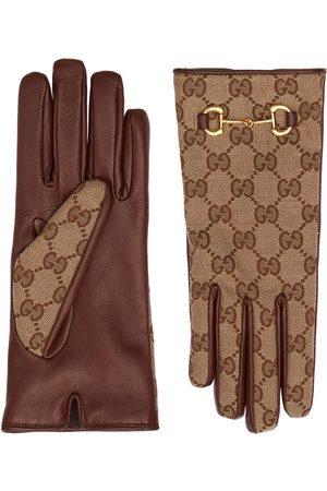 Gucci Gg Canvas-handschuhe Mit Trensendetail