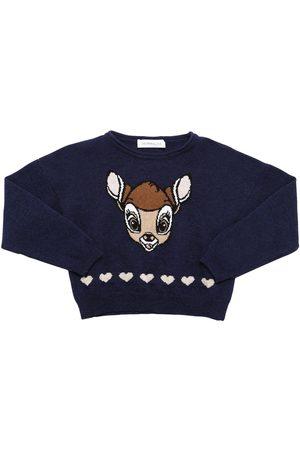 MONNALISA Damen Sweatshirts - Sweater Aus Wollstrick Mit Intarsie