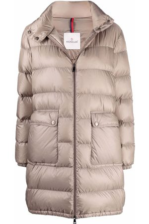 Moncler Abricotier padded long jacket