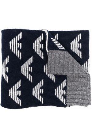 Emporio Armani Jungen Schals - Reversible logo-print scarf