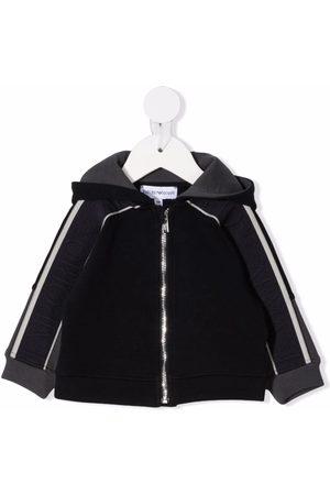 Emporio Armani Sommerjacken - Logo-print sleeve jacket