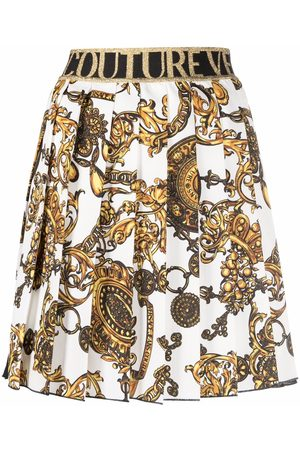 Versace Jeans Couture Barocco-print pleated skirt
