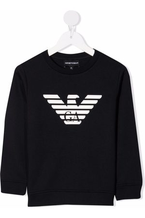 Emporio Armani Kids Logo-print crew neck sweatshirt