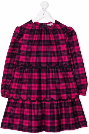 Il gufo Tartan check print dress