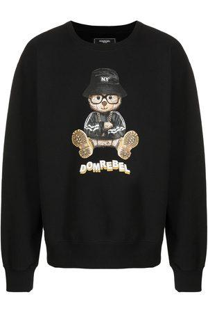 DOMREBEL Herren Sweatshirts - Teddy bear logo-print sweatshirt