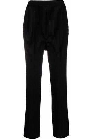 Filippa K Damen Hosen & Jeans - Rib-knit flared trousers