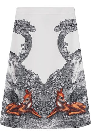 Burberry Damen Bedruckte Röcke - Deer sketch printed skirt