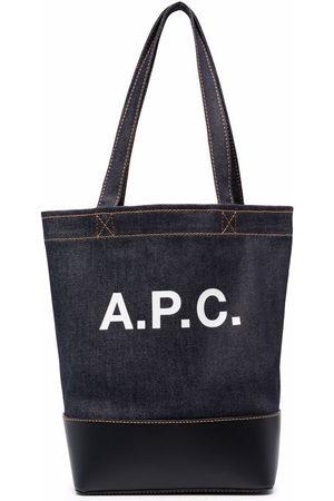 A.P.C. Denim logo tote bag