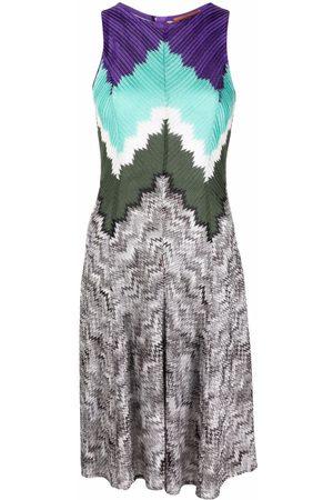 Missoni Damen Ärmellose Kleider - Patterned intarsia-knit sleeveless dress