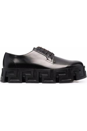 VERSACE Greca-pattern ridged-sole lace-up shoes