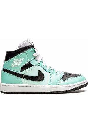 "Jordan Air 1 Mid ""Aqua Black"" sneakers"