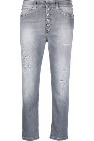 Dondup Damen Straight - Cropped straight-leg jeans