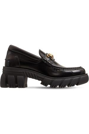 "Gucci 40mm Hohe Loafers Aus Poliertem Leder ""romance"""