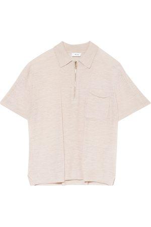 Reiss Damen Poloshirts - Strickshirt Jenna Mit Leinen Und Alpaka beige