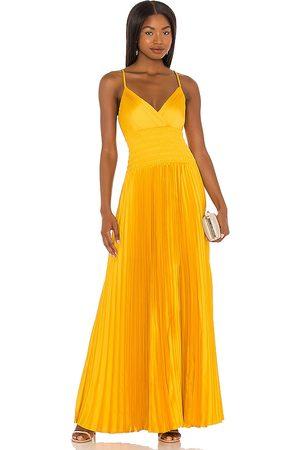 BCBG Max Azria Damen Lange Kleider - Maxi Dress in - Yellow. Size L (also in XS, S, M).