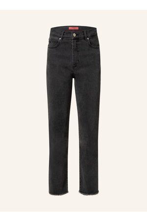 HUGO BOSS 7/8-Jeans Gayang schwarz