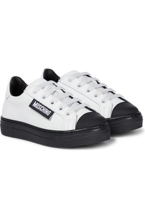 Moschino Plateau-Sneakers H483 aus Leder