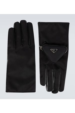 Prada Handschuhe aus Nylon und Leder