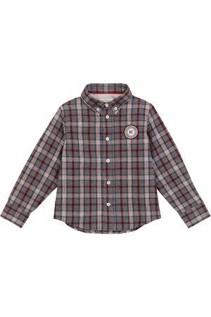 Brunello Cucinelli Kariertes Hemd aus Baumwolle