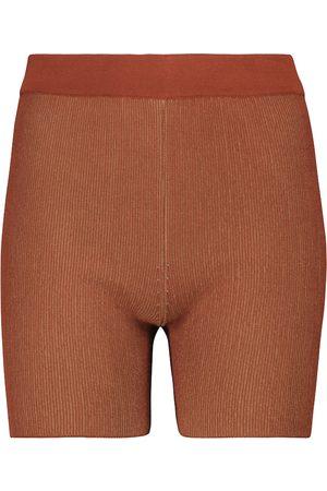 Jacquemus Strick-Shorts Le Short Arancia