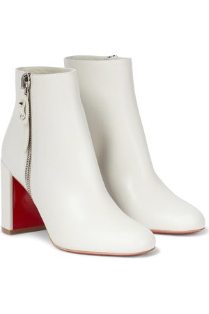 Christian Louboutin Damen Stiefeletten - Ankle Boots Ziptotal 85 aus Leder
