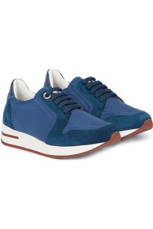 Loro Piana Sneakers My Wind mit Velourslederbesatz