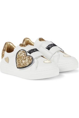Moschino Verzierte Sneakers aus Leder