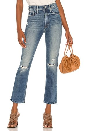 MOTHER High Waisted Rider Ankle in - Blue. Size 23 (also in 24, 25, 26, 27, 28, 29).