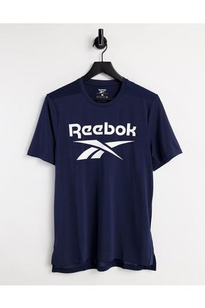 Reebok Training t-shirt with large logo in navy