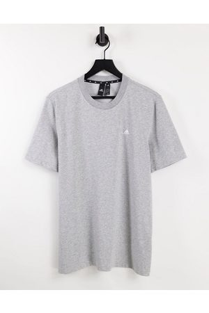 adidas performance Adidas Training lounge t-shirt with small logo in grey