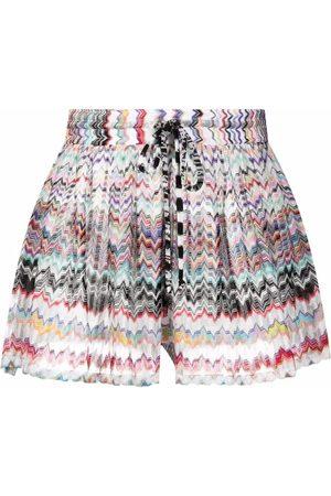 Missoni Zigzag-woven high-waist shorts