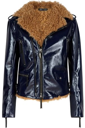 Giuseppe Zanotti Damen Lederjacken - Amelia high-shine jacket