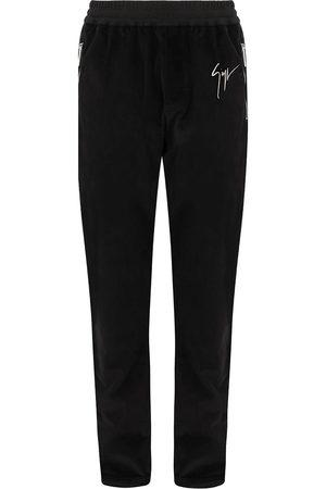 Giuseppe Zanotti Satin-trim velvet trousers