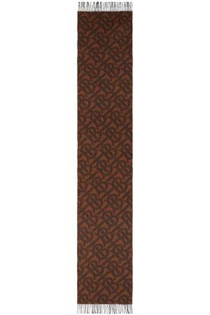 Burberry Monogram-pattern wrap-around scarf
