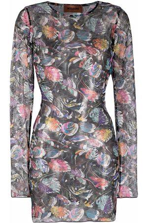 Missoni Leaf-pattern open-knit dress