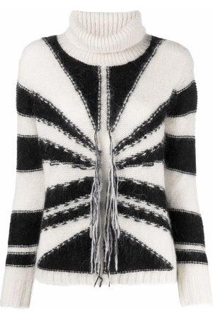 John Richmond Geometric pattern rib-trimmed jumper
