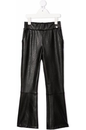 MONNALISA Mädchen Leder & Lederimitathosen - Faux-leather flared trousers
