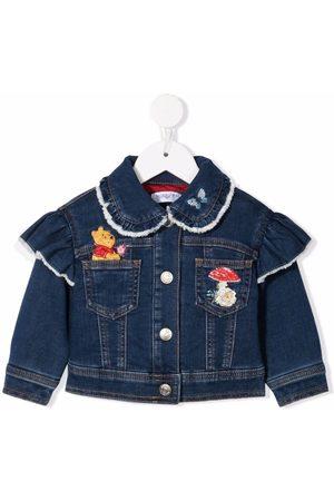 MONNALISA Jeansjacken - Winnie-the-Pooh embroidered denim jacket