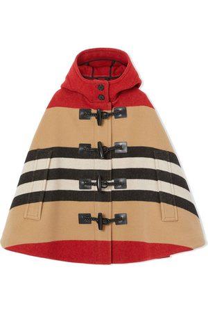 Burberry Icon stripe duffle cape
